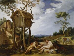 Абрахам Блумарт, «Притча о плевелах». Зачем на картине голубятня?