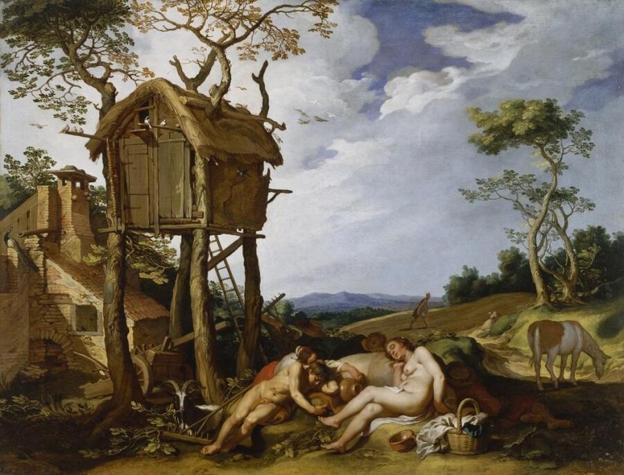 Абрахам Блумарт, Притча о зернах и плевелах, 1624, 100х133 см, Walters Art Museum, Мериленд, США