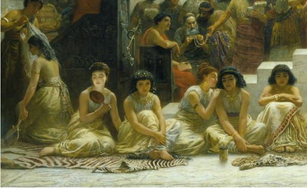 Эдвин Лонг, Вавилонский рынок невест, фрагмент «Невесты»