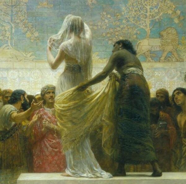 Эдвин Лонг, Вавилонский рынок невест, фрагмент «Первая невеста»