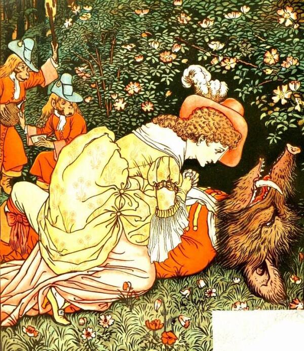 Иллюстрация к сказке «Красавица и Чудовище».