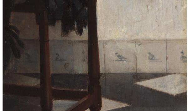 Габриэль Метсю, Мужчина пишет письмо, фрагмент «Панели»