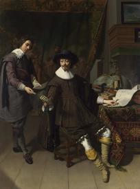 Томас де Кейзер, Константин Гюйгенс– старший с секретарем, 1627, 92х69 см, Лондонская национальная галерея, Англия