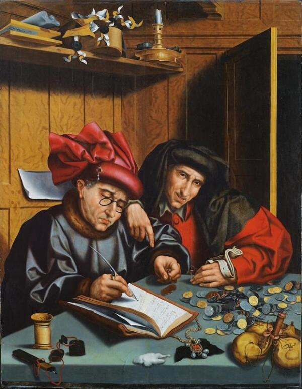 Маринус вае Реймсвалле, Менялы, 1548, 124х95 см, Bilbao Fine Arts Museum, Бильбао, Испания