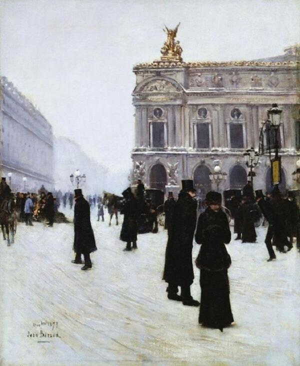 Жан Беро, У входа в парижскую оперу, 1879