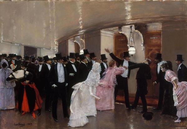 Жан Беро, Ссора в коридоре, 1889