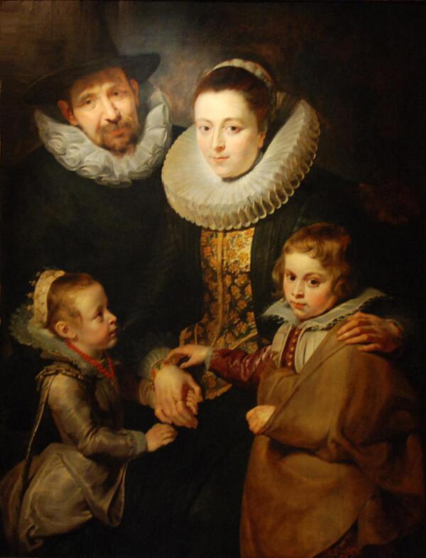 Питер Пауль Рубенс, Семья Яна Брейгеля Старшего, 125х95 см, 1613, Courtauld Institute of Art, Лондон, Англия
