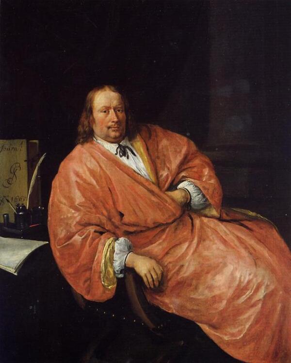 Ян Стен, портрет Геррита Шоутена, 1665, частная коллекция