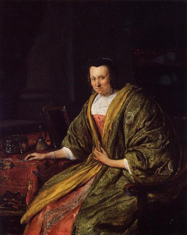 Ян  Стен, Портрет Гертруи, второй жены Геррита Шоутена, 1665, частная коллекция