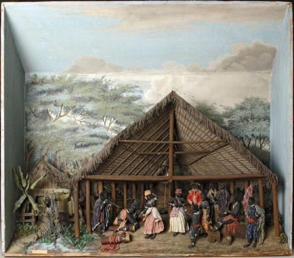 Диорама «Танцующие аборигены», Королевский тропический институт, Амстердам, Нидерланды