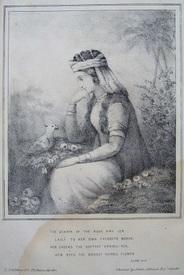 Лейли, иллюстрация Джеймса Аткинсона к английскому изданию поэмы Низами