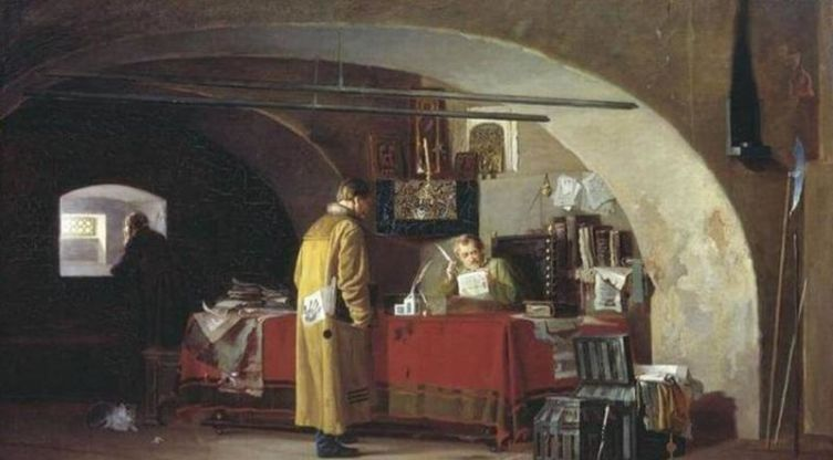А.С. Янов, «В приказе», 1880-е годы