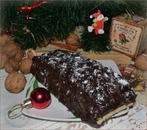 Как приготовить французский десерт «Рождественское полено»?