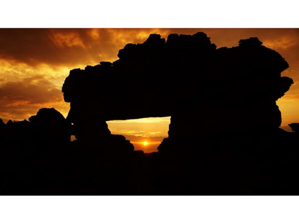 Закат через «окно Исалу»