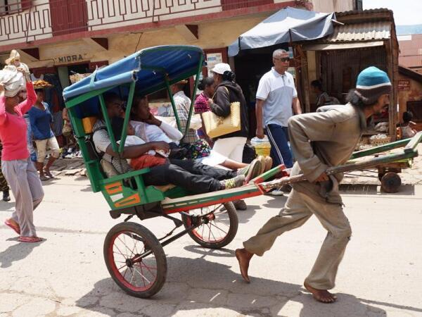 Нелёгкий труд рикши