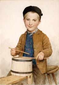 Альбрехт Анкер, Барабанщик,1904.Kunstmuseum, Базель, Швейцария