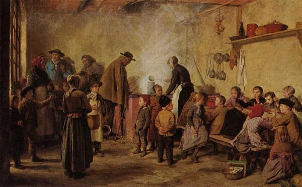 Альбрехт Анкер, Суп для бедных,1893, Kunstmuseum, Берн, Швейцария