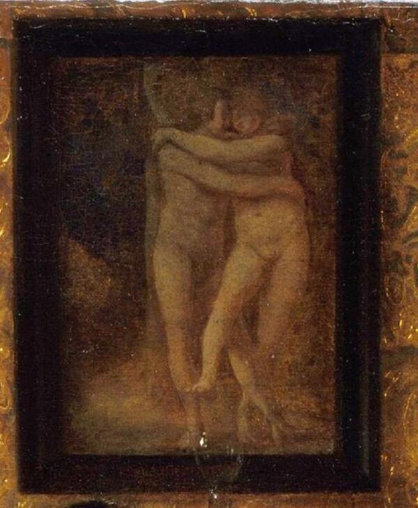 Питер де Хох, Приятная компания, фрагмент «Картина с любовной сценой»