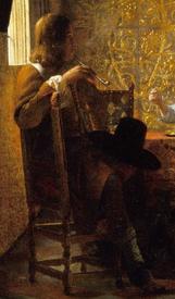 Питер де Хох, Приятная компания, фрагмент «Мужчина с трубкой»