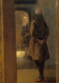 Питер де Хох, Приятная компания, фрагмент «Нищий»