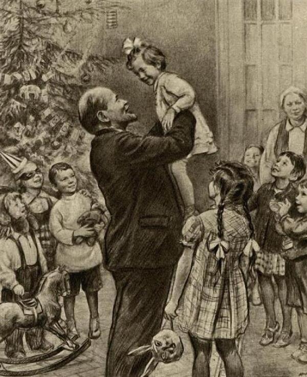 Ленин на ёлке в Сокольниках.