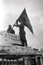 Танкисты отправляются на фронт. Битва за Москву, 31 декабря 1941 года.