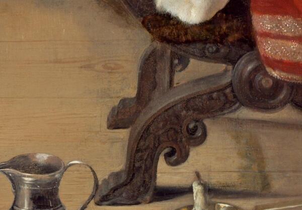 Габриэль Метсю, Нежданный визитер, фрагмент «Ножки кресла»