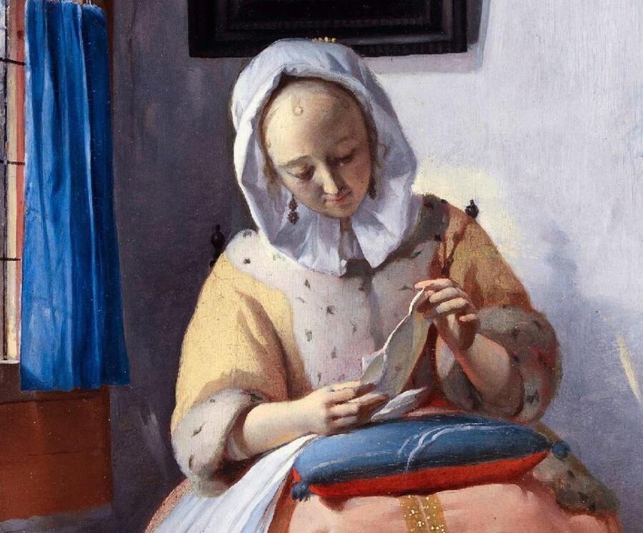 Габриэль Метсю, Женщина читает письмо, фрагмент «Хозяйка»