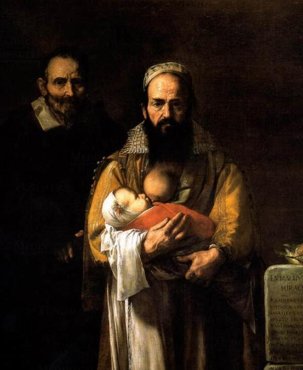 Портрет Магдалены Вентура с мужем и сыном.
