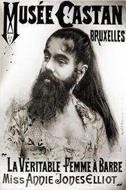 Настоящая бородатая женщина мисс Энни Джонс Эллиот.
