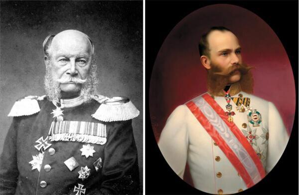 Вильгельм I и Франц-Иосиф.