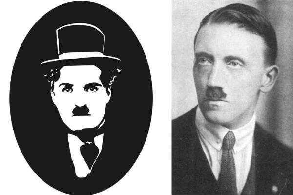 Чарли Чаплин и Адольф Гитлер.