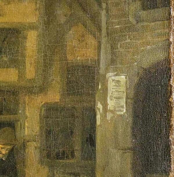 Корнелис Дюсарт, Рыбный рынок, фрагмент «Извещение»