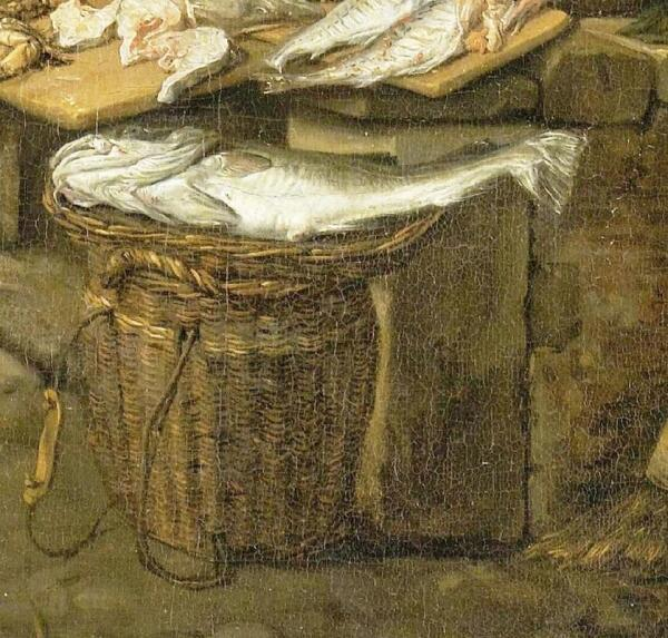Корнелис Дюсарт, Рыбный рынок, фрагмент «Рыба»