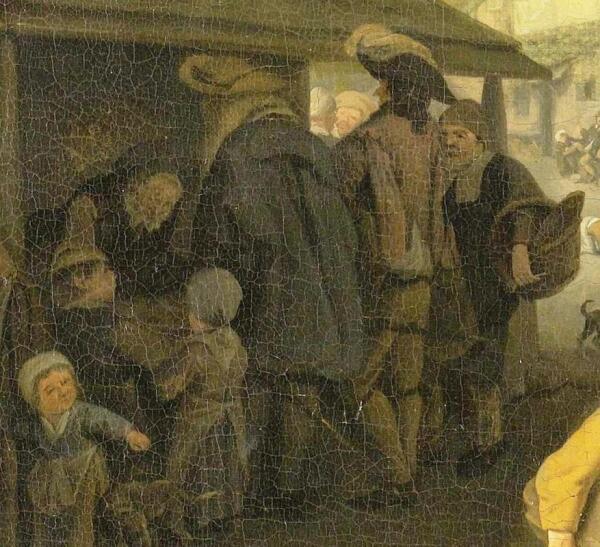 Корнелис Дюсарт, Рыбный рынок, фрагмент «Покупатели»