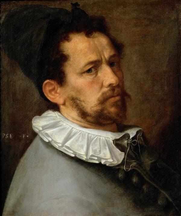 Бартоломеус Спрангер, Автопортрет 1580, 62х45 см, Kunsthistorisches Museum, Вена, Австрия