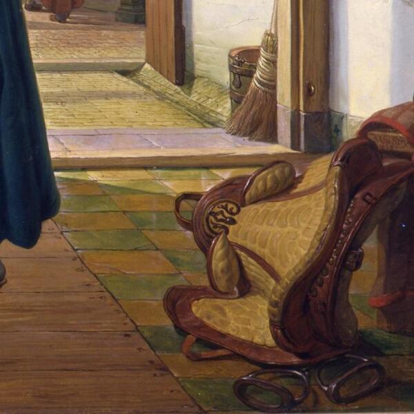 Абрахам ван Стрий, Гусар и служанка, фрагмент «Седло»