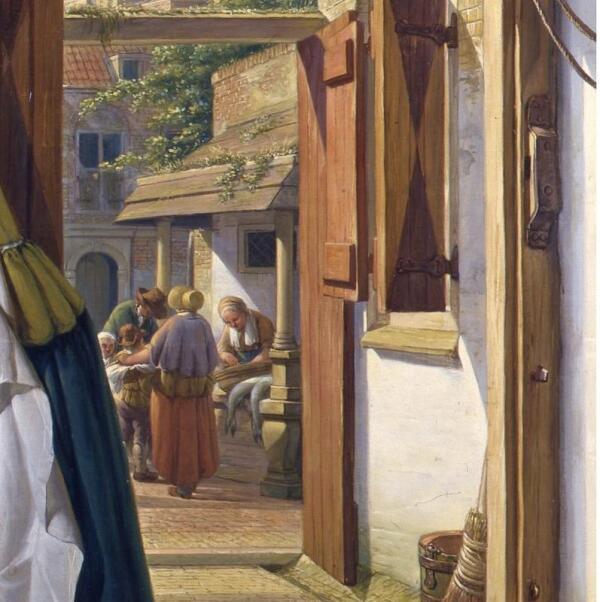 Абрахам ван Стрий, Гусар и служанка, фрагмент «Рынок»