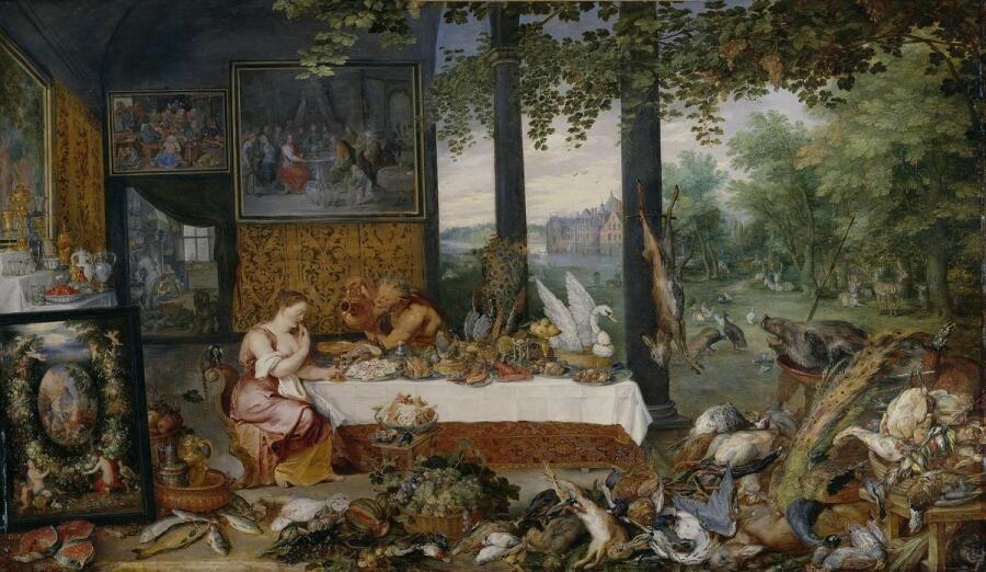Питер Пауль Рубенс, Ян Брейгель Старший, Вкус, 1618, 64х109 см, Прадо, Мадрид, Испания