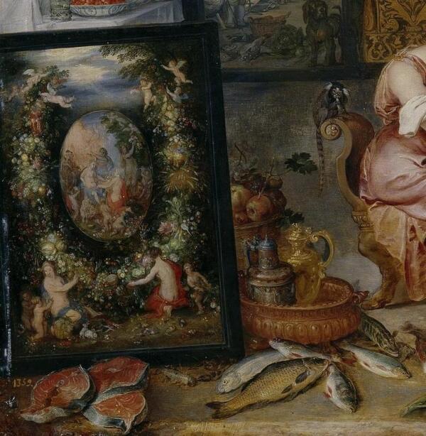 Питер Пауль Рубенс, Ян Брейгель Старший, Вкус, фрагмент «Аллегория плодородия»