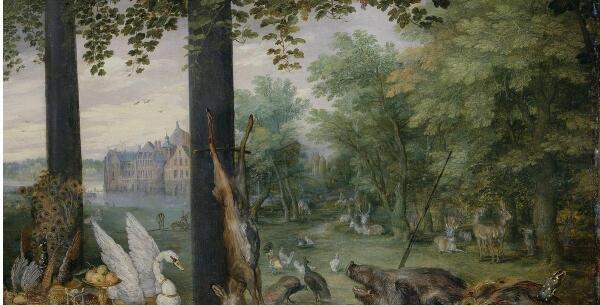 Питер Пауль Рубенс, Ян Брейгель Старший, Вкус, фрагмент «Дичь в лесу»