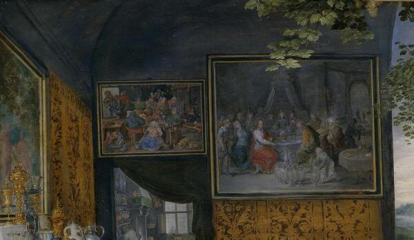 Питер Пауль Рубенс, Ян Брейгель Старший, Вкус, фрагмент «Деревенская пирушка»