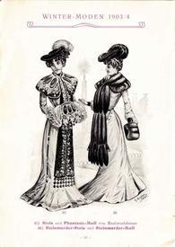 Палантин и муфта из кротового меха, 1903.