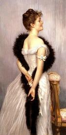 Джеймс Тиссо. Портрет Викотенссы де Монморан с боа