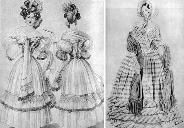Шарфы первой половины XIX века