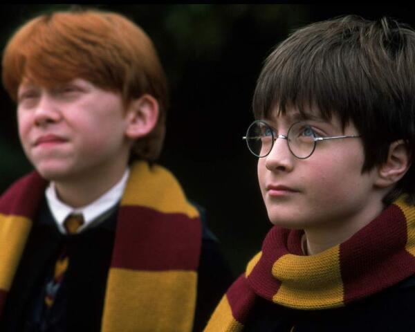 Академические шарфы у Рона Уизли и Гарри Поттера.