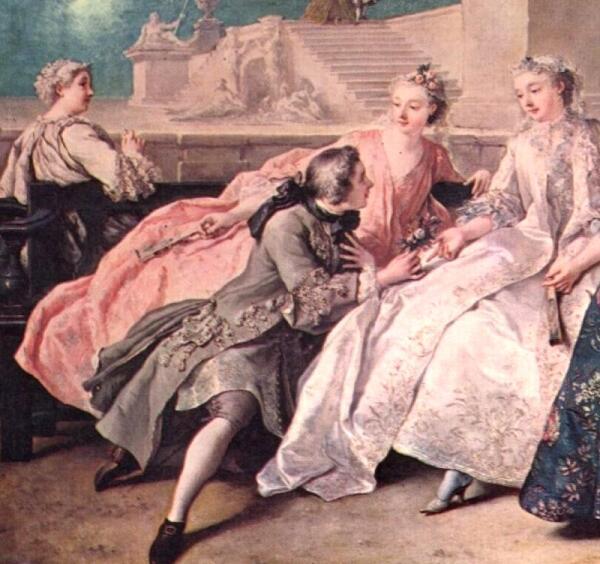 Ж. Ф. де Труа. «Общество в парке» 1731.