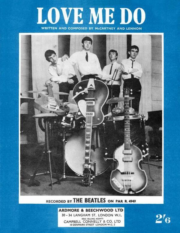 Группа БИТЛЗ в начале 1960-х.