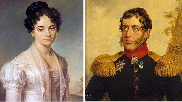 М. Волконская и С. Г. Волконский
