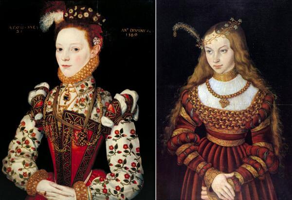 Рукава-буфы на портретах XVI века.
